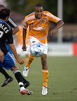 22 May 2008: Ricardo Clark of the Dynamo in action during the first half of the game against the Earthquakes at Buck Shaw Stadium in San Jose, California.   San Jose Earthquakes and Houston Dynamo are tied 0-0 at halftime.