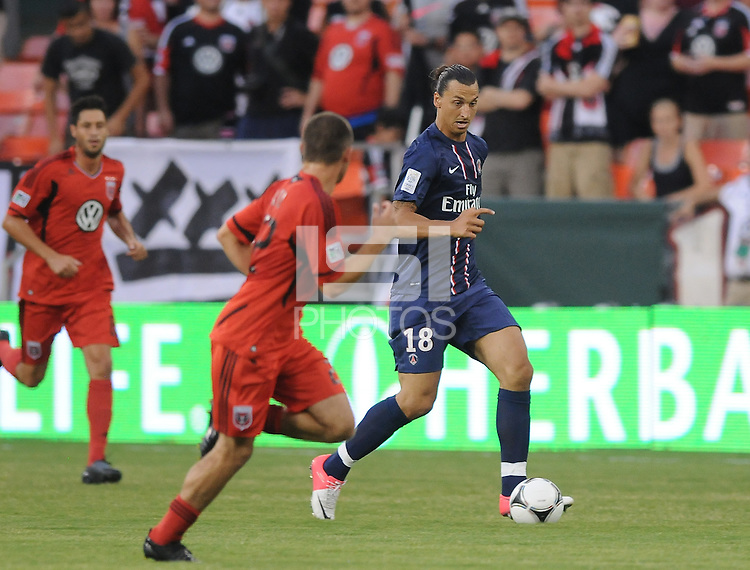 Paris St Germain forward Ibrahimovic Zlatan (18) D.C. United tied Paris St. Germain 1-1 at RFK Stadium, Saturday 28, 2012.