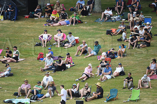 10th December 2017, Seddon Park, Hamilton, New Zealand; International Test Cricket, 2nd Test, Day 2, New Zealand versus West Indies;  Fans and supporters