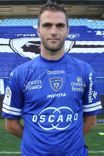 15.10.2013. Bastia, France. French League 1 football team SC Bastia official season 2013-14 portrait pictures.  Julien Sable