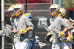 Orange, CA 05/01/10 - Arizona State Sun Devils lacrosse players warm up for their semi-final appearance against UCSB at Chapman University for the 2010 MCLA / SLC Final Four Championship.