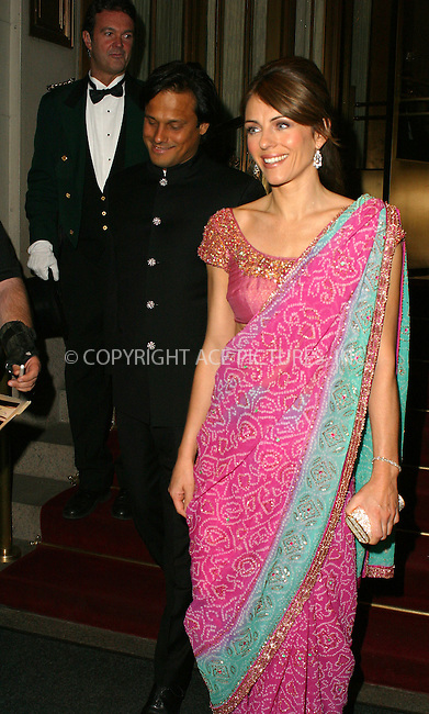 WWW.ACEPIXS.COM . . . . .  ....NEW YORK, APRIL 20, 2005....Elizabeth Hurley and boyfriend Arun Nayar head out for an evening on the town.....Please byline: PAUL CUNNINGHAM - ACE PICTURES..  ***  ..Ace Pictures, Inc:  ..Craig Ashby (212) 243-8787..e-mail: picturedesk@acepixs.com..web: http://www.acepixs.com