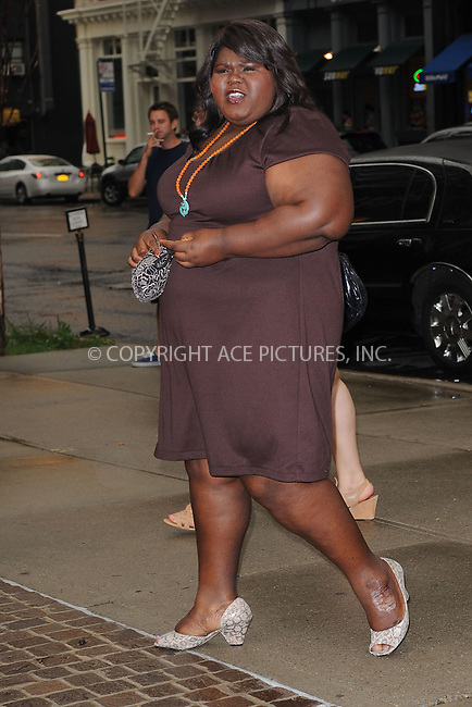 WWW.ACEPIXS.COM . . . . . .July 13, 2011...New York City...Gabourey Sidibe attends the screening of 'Snow Flower And The Secret Fan' at the Tribeca Grand Hotel on July 13, 2011 in New York City....Please byline: KRISTIN CALLAHAN - ACEPIXS.COM.. . . . . . ..Ace Pictures, Inc: ..tel: (212) 243 8787 or (646) 769 0430..e-mail: info@acepixs.com..web: http://www.acepixs.com .