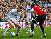 Leeds United's Jack Clarke takes on Brentford's Moses Odubajo<br /> <br /> Photographer Alex Dodd/CameraSport<br /> <br /> The EFL Sky Bet Championship - Leeds United v Brentford - Saturday 6th October 2018 - Elland Road - Leeds<br /> <br /> World Copyright &copy; 2018 CameraSport. All rights reserved. 43 Linden Ave. Countesthorpe. Leicester. England. LE8 5PG - Tel: +44 (0) 116 277 4147 - admin@camerasport.com - www.camerasport.com