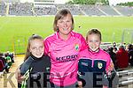 Emma Kissane with Mary Cronin and Ciara Cronin, all from Beaufort, Killarney, enjoying the Kerry v Clare football championship semi-final, held at Fitzgerald Stadium, Killarney on Sunday.