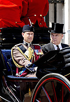 17 June 2017 - London, England - Prince Andrew and Prince Edward. The ceremony of the Trooping the Colour, marking the monarch's official birthday, in London. Photo Credit: PPE/face to face/AdMedia