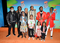 LOS ANGELES, CA. March 23, 2019: Migos, Takeoff, Quavo, Offset & Family at Nickelodeon's Kids' Choice Awards 2019 at USC's Galen Center.<br /> Picture: Paul Smith/Featureflash