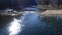 NWA Democrat-Gazette/FLIP PUTTHOFF<br />Sunshine bathes the Buffalo National River Jan. 19 2018 at Ponca. A hike on the Buffalo River Trail from Ponca to Steel Creek and back is four miles.