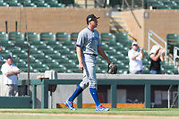 Surprise Saguaros starting pitcher Nate Pearson (20), of the Toronto Blue Jays organization, during an Arizona Fall League game against the Salt River Rafters at Salt River Fields at Talking Stick on October 23, 2018 in Scottsdale, Arizona. Salt River defeated Surprise 7-5 . (Zachary Lucy/Four Seam Images)