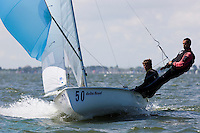 Medemblik - the Netherlands, May 28th 2009. Delta Lloyd Regatta in Medemblik (27/31 May 2009). Day 2. Nicolas Charbonnier & Baptiste Meyer.