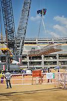 RIO DE JANEIRO, RJ, 09 DE MARCO 2012 - COPA 2014 - OBRAS MARACANA - Canteiro de obras do estádio Maracanã, na zona norte da cidade, que será o palco da final da Copa do Mundo de 2014. (FOTO: GLAICON EMRICH / BRAZIL PHOTO PRESS).