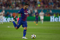 Miami, Florida - July 29, 2017: FC Barcelona defeated Real Madrid 3:2 in 2017 International Champions Cup match, at Hard Rock Stadium