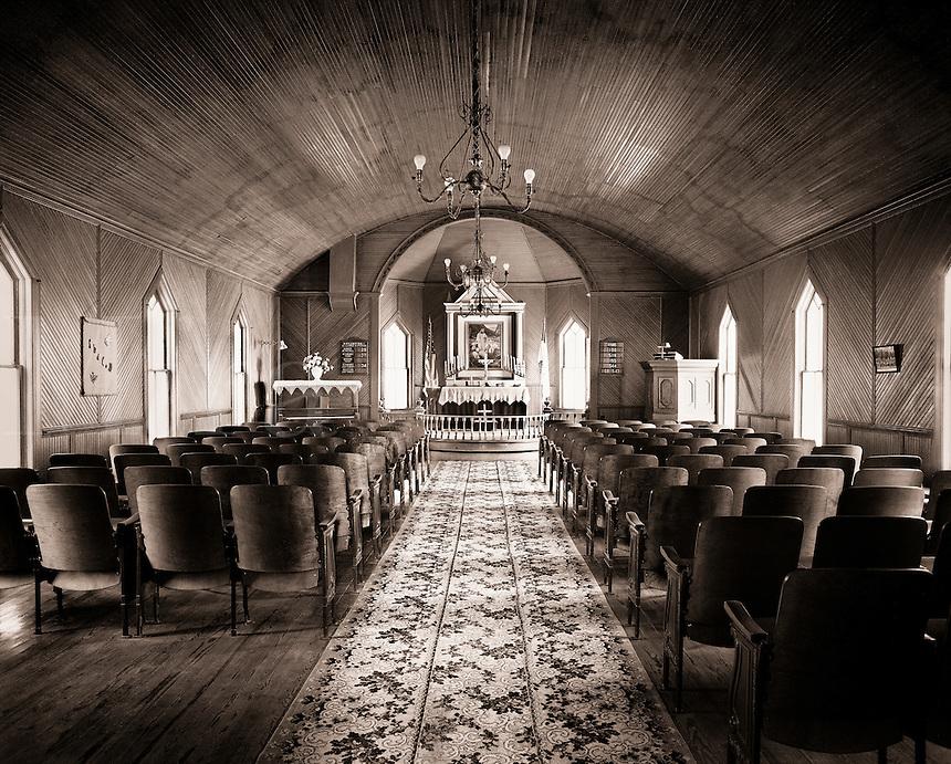The interior of a church.