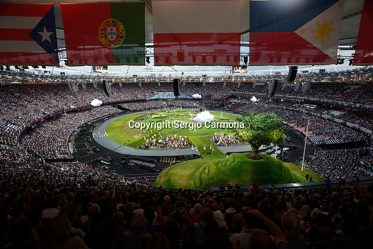Olympic Games 2012; Opening Ceremony - Olympic Stadium.