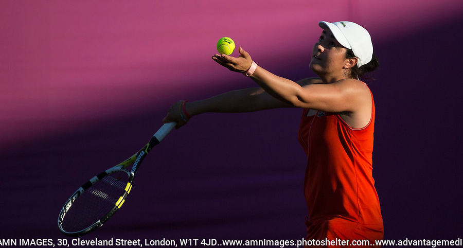 Ons Jabeur - Tunisia..Tennis - OLympic Games -Olympic Tennis -  London 2012 -  Wimbledon - AELTC - The All England Club - London - Friday 29th June  2012. .© AMN Images, 30, Cleveland Street, London, W1T 4JD.Tel - +44 20 7907 6387.mfrey@advantagemedianet.com.www.amnimages.photoshelter.com.www.advantagemedianet.com.www.tennishead.net