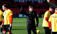 Lincoln City's assistant manager Nicky Cowley during the pre-match warm-up<br /> <br /> Photographer Andrew Vaughan/CameraSport<br /> <br /> The EFL Sky Bet League Two - Lincoln City v Northampton Town - Saturday 9th February 2019 - Sincil Bank - Lincoln<br /> <br /> World Copyright &copy; 2019 CameraSport. All rights reserved. 43 Linden Ave. Countesthorpe. Leicester. England. LE8 5PG - Tel: +44 (0) 116 277 4147 - admin@camerasport.com - www.camerasport.com