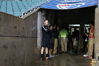 Cary, North Carolina  - Wednesday May 24, 2017: Christy Holly awaits for the all-clear to take the field prior to a regular season National Women's Soccer League (NWSL) match between the North Carolina Courage and the Sky Blue FC at Sahlen's Stadium at WakeMed Soccer Park. The Courage won the game 2-0.