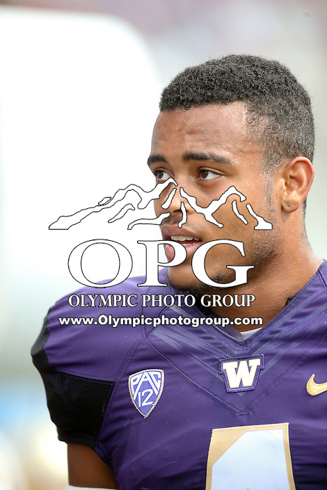 03 September 2016: Washington's Austin Joyner against Rutgers.  Washington defeated Rutgers 48-13 at the University of Washington in Seattle, WA.