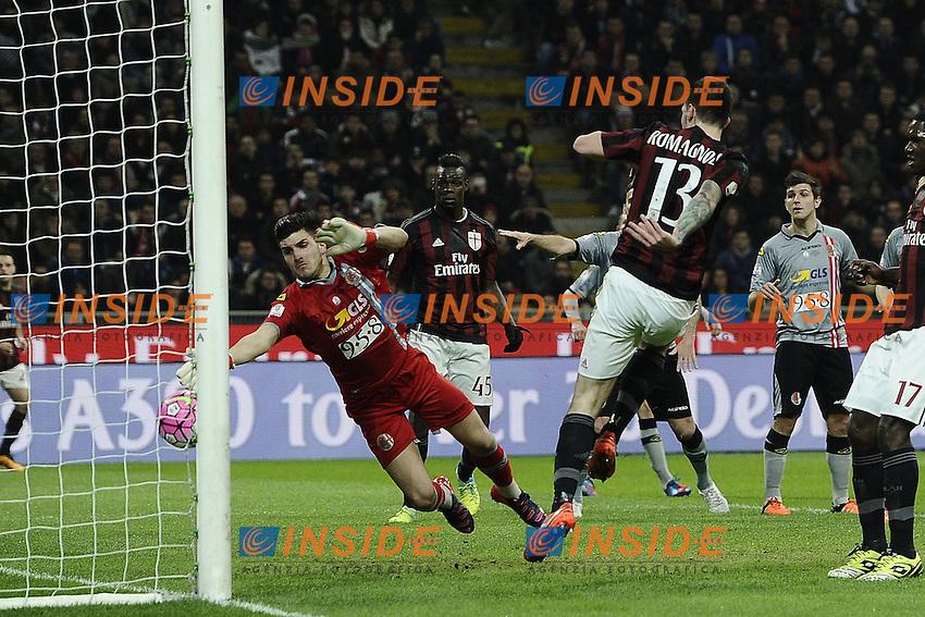 gol Alessio Romagnoli Milan Goal celebration <br /> Milano 01-03-2016 - coppa Italia - Italy Cup Milan - Alessandria foto Daniele Buffa/Image Sport/Insidefoto