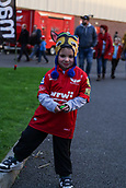 29th September 2017, Parc y Scarlets, Llanelli, Wales; Guinness Pro14 Rugby, Scarlets versus Connacht; Young Scarlets fan
