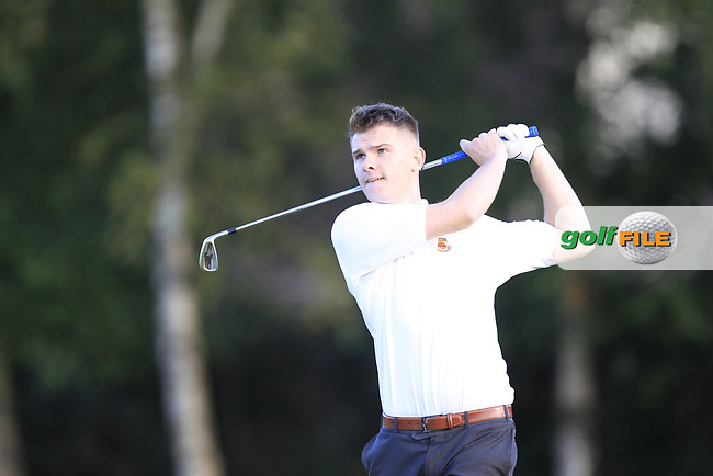 Terry O'Donnell (Cairndhu) during the final of the AIG Jimmy Bruen Ulster Final at Dungannon Golf Club, Dungannon, Tyrone, Ireland. 11/08/2017<br /> Picture: Fran Caffrey / Golffile
