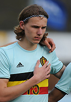20170314 - UDEN , NETHERLANDS : Belgian Ewoud Plentinckx pictured during the UEFA Under 17 Elite round game between The Netherlands U17 and Belgium U17, on the first matchday in group 5 of the Uefa Under 17 elite round in The Netherlands , tuesday 14 th March 2017 . PHOTO SPORTPIX.BE | DIRK VUYLSTEKE