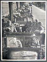 BNPS.co.uk (01202 558833)<br /> Pic: Jones&Jacob/BNPS<br /> <br /> LSSAH 'On the March'.<br /> <br /> Springtime for Hitler...Chilling album of pictures taken by one of Hitlers bodyguards illustrates the Nazi dictators rise to power.<br /> <br /> An unseen album of photographs taken by a member of Hitlers own elite SS bodyguard division in the years leading up to the start of WW2.<br /> <br /> The 1st SS Panzer Division 'Leibstandarte SS Adolf Hitler' or LSSAH began as Adolf Hitler's personal bodyguard in the 1920's responsible for guarding the Führer's 'person, offices, and residences'.