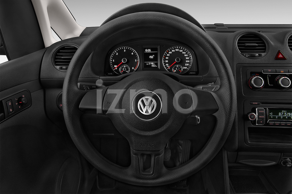Car pictures of steering wheel view of a 2014 Volkswagen CADDY 1.6 TDI 4 Door Car Van Steering Wheel