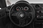 Car pictures of steering wheel view of a 2014 Volkswagen CADDY 1.6 TDI 4 Door Car Van Steering Wheel