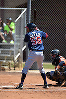Atlanta Braves Victor Reyes (56) during a minor league spring training game against the Houston Astros on March 29, 2015 at the Osceola County Stadium Complex in Kissimmee, Florida.  (Mike Janes/Four Seam Images)