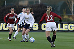 05 December 2008: Notre Dame's Courtney Rosen (14). The Notre Dame Fighting Irish defeated the Stanford Cardinal 1-0 at WakeMed Soccer Park in Cary, NC in an NCAA Division I Women's College Cup semifinal game.