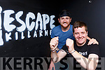 Frank Ryan and Philip O'Connor in their Escape Room in Killarney