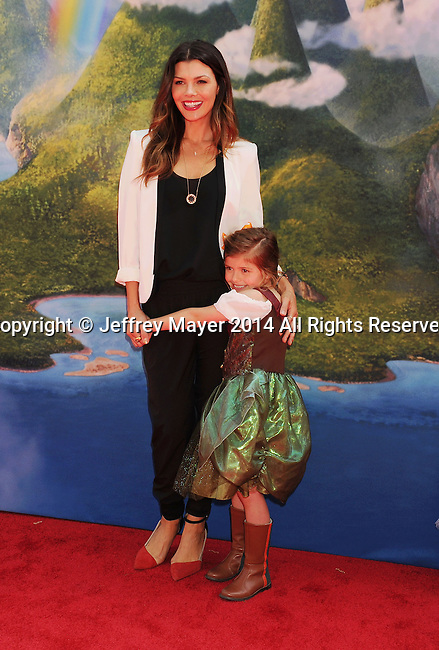BURBANK, CA- MARCH 22: Actress Ali Landry (L) and daughter Estela Monteverde attend the premiere of DisneyToon Studios' 'The Pirate Fairy' at Walt Disney Studios on March 22, 2014 in Burbank, California.
