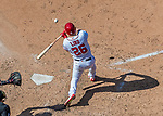 9 July 2017: Washington Nationals first baseman Adam Lind pinch hits in the 8th inning against the Atlanta Braves at Nationals Park in Washington, DC. The Nationals defeated the Atlanta Braves to split their 4-game series going into the All-Star break. Mandatory Credit: Ed Wolfstein Photo *** RAW (NEF) Image File Available ***