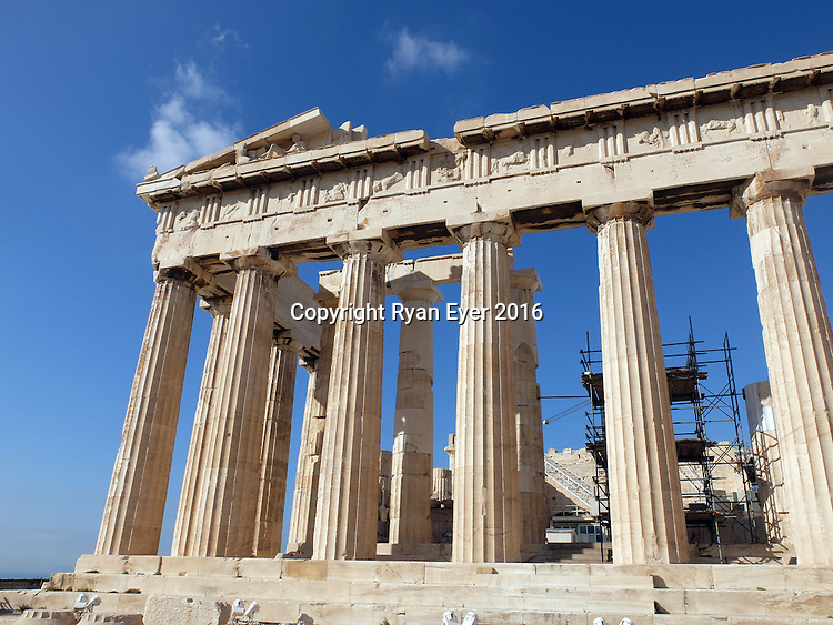 ATHENS - 9 October 2016 - One of Athens'most popular tourist sites is the Parthenon, a former temple, on the Athenian Acropolis, Greece, dedicated to the goddess Athena, whom the people of Athens considered their patron. Picture: Ryan Eyer