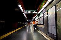 Roma, 18 Novembre, 2015. Fermata Cipro della linea A della metropolitana di Roma.