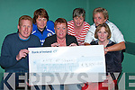 JACKPOT: Kate McSherry, (seated centre) winner of EUR9,700 in the jackpot at bingo in the Community Centre is presented with her cheque on Monday night by Fergus Stack Bale GAA and Nora Buckley Ballybunion Community Centre.  Back l-r: Leesha Meehan, Ann Jones and Ann O'Connor.   Copyright Kerry's Eye 2008