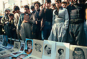 Iran 1979.In the streets of Mahabad, crowd and posters of leftist personalities