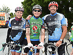 Annamarie Holdcroft, Mick Kelly and Paddy Holdcroft who took part in the annual Dromin charity cycle. Photo:Colin Bell/pressphotos.ie