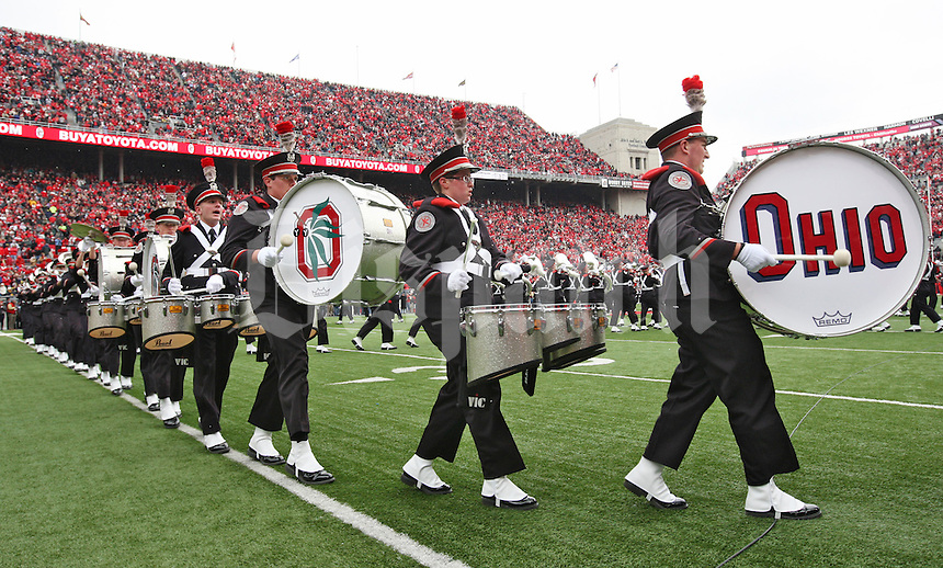 The Ohio State Marching Band takes the field before the game against Michigan at Ohio Stadium on November 24, 2012.  (Chris Russell/The Columbus Dispatch)