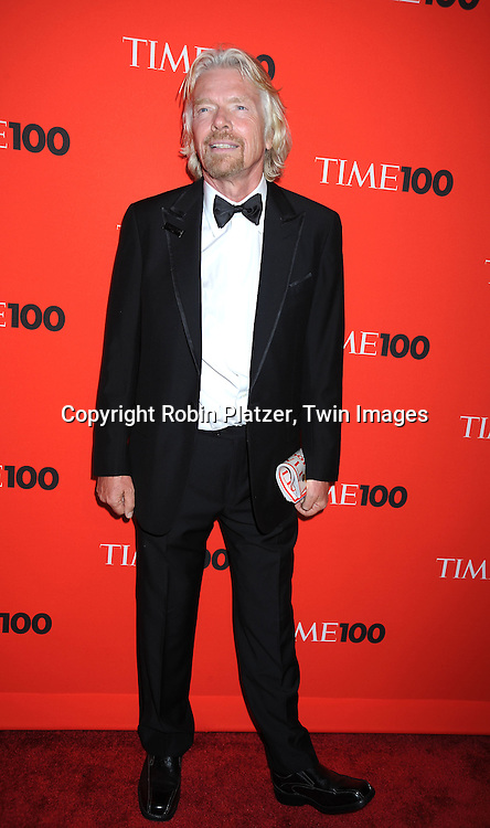 Sir Richard Branson posing for photographers at the Time Celebrates the Time100 Issue Gala on May 4, 2010 at The Time Warner Center in New York City. The magazine celebrates the 100 Most Influential People in the World.