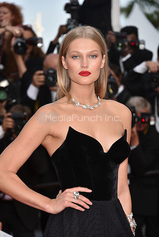 Toni Garrn<br /> 'Loving' screening arrivals during the 69th International Cannes Film Festival, France May 16, 2016.<br /> CAP/PL<br /> &copy;Phil Loftus/Capital Pictures /MediaPunch ***NORTH AND SOUTH AMERICA ONLY***