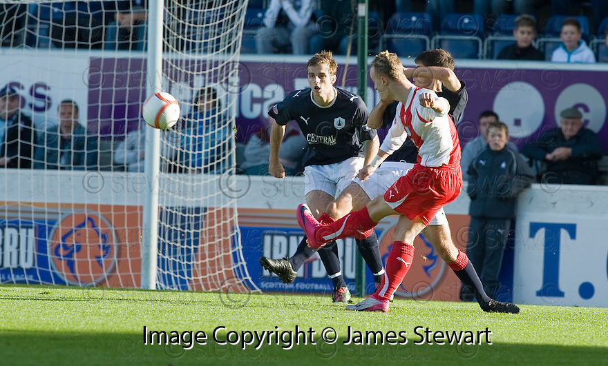 30/10/2010   Copyright  Pic : James Stewart.sct_jsp001_falkirk_v_dundee  .:: LEIGH GRIFFITHS SCORES DUNDEE'S FIRST:: .James Stewart Photography 19 Carronlea Drive, Falkirk. FK2 8DN      Vat Reg No. 607 6932 25.Telephone      : +44 (0)1324 570291 .Mobile              : +44 (0)7721 416997.E-mail  :  jim@jspa.co.uk.If you require further information then contact Jim Stewart on any of the numbers above.........