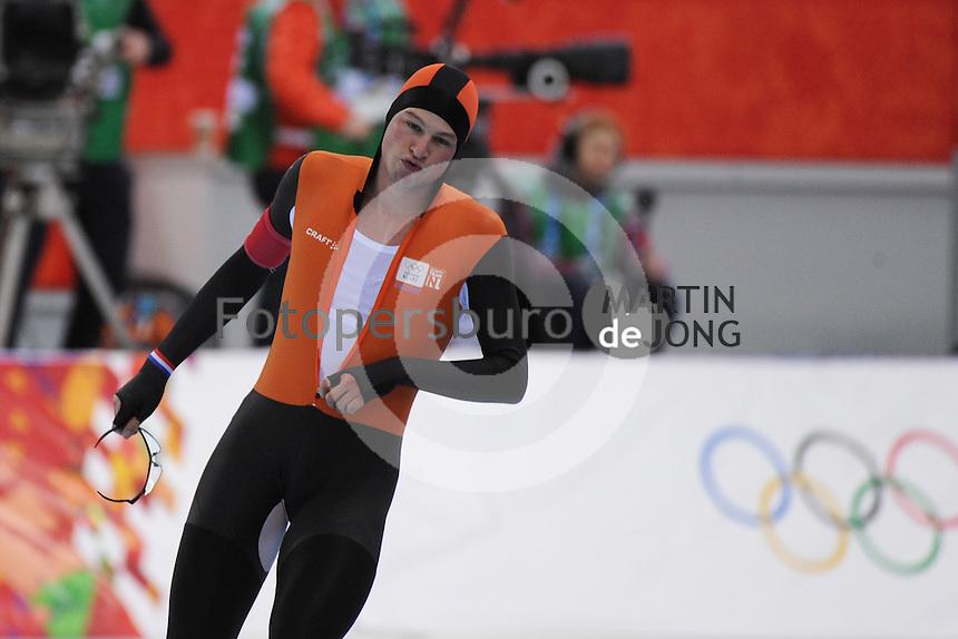 OLYMPICS: SOCHI: Adler Arena, 18-02-2014, Men's 10.000m, podium, Sven Kramer (NED), ©photo Martin de Jong