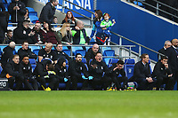 Birmingham City manager Gary Monk sits with a dejected bench after Craig Bryson of Cardiff City scores his sides second goal of the match during the Sky Bet Championship match between Cardiff City and Birmingham City at the Cardiff City Stadium, Wales, UK. Saturday 10 March 2018