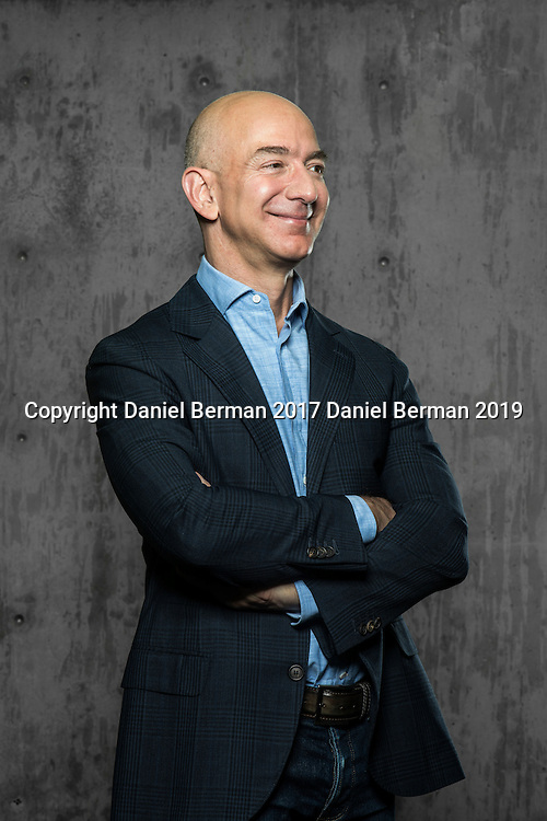 Amazon.com CEO Jeff Bezos photographed in Seattle ahead of the company's 20th anniversary. Photo by Seattle editorial photographer Daniel Berman/www.bermanphotos.com