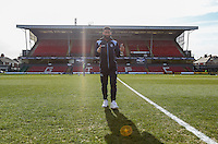 Alex Jakubiak of Wycombe Wanderers ahead of the Sky Bet League 2 match between Grimsby Town and Wycombe Wanderers at Blundell Park, Cleethorpes, England on 4 March 2017. Photo by Andy Rowland / PRiME Media Images.