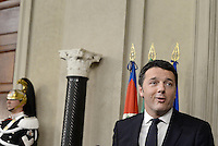 Roma, 17 Febbraio 2014<br /> Matteo Renzi riceve l'incarico dal Presidente della Repubblica per la formazione del nuovo Governo.<br /> The President of the Republic gives the task to Matteo Renzi for the formation of the new government