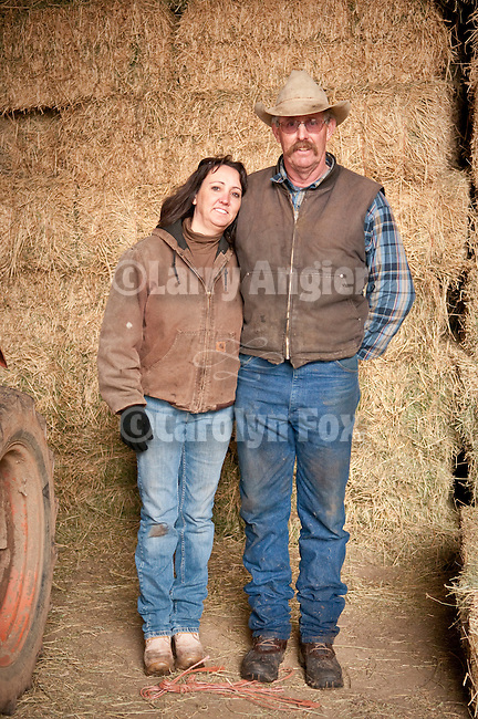 Families gather after Christmas at the Cuneo Ranch in California's Mother Lode. Robin and Stan.