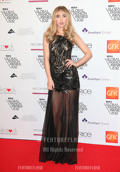 Suki Waterhouse arriving for the WGSN Global Fashion Awards at The Savoy Hotel, London. 05/11/2012 Picture by: Alexandra Glen / Featureflash